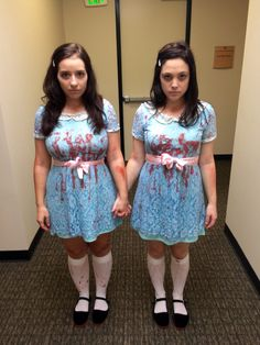 The Grady Twins The Shining HALLOWEEN  sc 1 st  Pinterest & As brunette twins I think we pulled off our Halloween costumes this ...