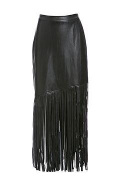 NIGHTWALKER Saloon Vegan Skirt in black XS - L at DAILYLOOK