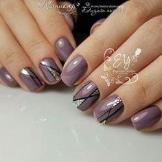 What manicure for what kind of nails? - My Nails Glitter Nail Polish, Nail Polish Colors, Acrylic Nails, Mauve Nails, Purple Nails, Nagellack Design, Healthy Nails, Nagel Gel, Nail Decorations
