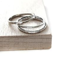 Sterling Silver Stacking Rings, Midi Ring, Plain Ring, Hammered Ring, Simple Ring, Everyday Rings, Minimalist Jewelry,Skinny Rings for Women Silver Stacking Rings, Sterling Silver Rings, Great Gifts For Girlfriend, Skinny Rings, Everyday Rings, Personalized Rings, Rings For Her, Knuckle Rings, Midi Rings