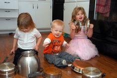 Make a kitchen band.