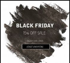 Black Friday Sale starts now! Free shipping on all items! Save 15% storewide. Use coupon code: BLACK. #black #blackfriday #sale #friday