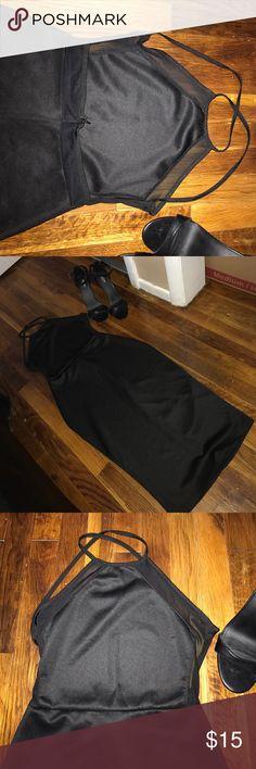 Black Dress Black & Sheer Backless Dress Never Worn Dresses Strapless