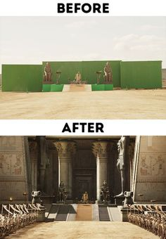 Before and After Photos That Show The Powers of Special Effects - Wow Gallery Film Studio, Studio City, Movie Special Effects, Tv Sets, Film Making, Fx Makeup, Wedding Photoshoot, Good Movies, Behind The Scenes