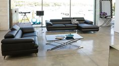 Boston 2 Piece Leather Lounge Suite