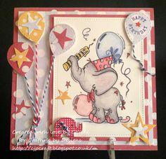 Birthday Elephant Bogaboo stamps