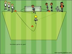 Soccer shooting technique to help younger players hit a clean shot.
