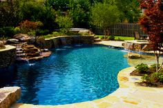Love Large Tanning Ledge Pool Outdoor Outdoor Pool