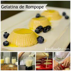 Receta de Gelatina de Rompope Especial
