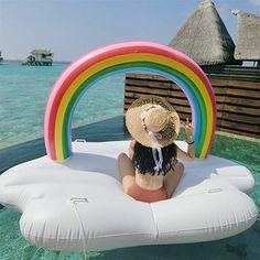 "Pink Swimline 71/""L x 53/""W Swimming Pool Giant Sun Tan Tub Inflatable Float"