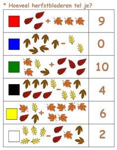 * Hoeveel herfstbladeren tel je? 1-2