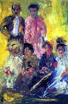 'Gruppenbild mit Schönberg', 1908 von Richard Gerstl (1883-1908, Austria)