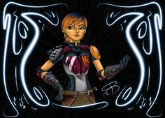 "#RCBrock Here!  Its #FanArtFriday so its another colored post from me. Today im posting the final version of my ""Sabine Wren"" drawing. #StarWars #StarWarsRebels #Sabine #SabineWren"