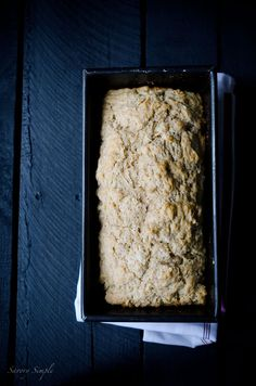 This autumn Spiced Octoberfest Beer Bread recipe is so easy to make! No mixer or kneading required. www.savorysimple.net #Oktoberbest #Recipe