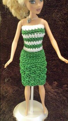 Barbie green dress