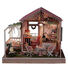 Doll House: Rylai Wooden Handmade Dollhouse Miniature DIY Kit  Dreamland Series Dollhouses For Girls Wood Room  FurnitureAccessories ** For more information, visit image link.