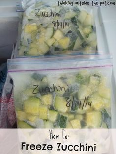 How to: Freeze Zucchini