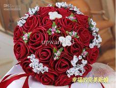 Wholesale Rose Flowers - Buy Wedding Bouquet Artificial Rose Flowers ,Red Bridal Throw Bouquet Bridal Bouquets 5 Colors >>urtuyf, $28.41 | DHgate
