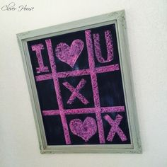 12 Easy DIY Valentine's Day Projects Chalkboard Stencils, Chalkboard Doodles, Chalkboard Decor, Chalkboard Designs, Christmas Chalkboard, Chalkboard Quotes, Kitchen Chalkboard, Chalk Wall, Chalk Board