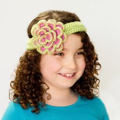 Beautifully Blushed Headband & Rosette Crochet Pattern via Hopeful Honey