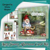 Lazy Sunny Afternoon Cardfront Kit