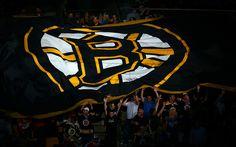 Herunterladen hintergrundbild boston bruins, 4k, logo, fans, nhl