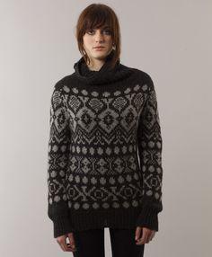 Elke Nordic Sweater - Charcoal