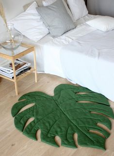 Green Leaf play mat, Monstera Decor for Tropical Nursery Green Leaf Spielmatte, Monstera Decor für Tropical Nursery - Unique Baby Bathing