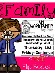 Pocket Full of Kinders!: Word Family Flip Books