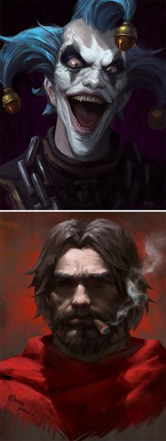 Junkrat & McCree Portraits - https://www.artstation.com/artist/chome