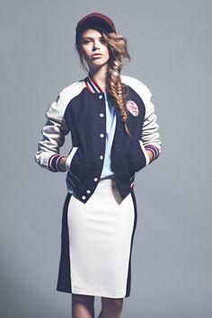 editorial de moda tendencias otoño-invierno 2012-13: cazadora de Hilfiger Denim
