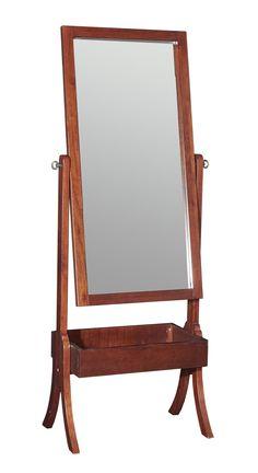 Amish Craftsman Mission Full Length Cheval Floor Mirror | Floor ...