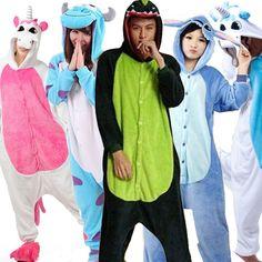Unicorn Stitch Giraffe Unisex Flano Pajamas Adults Cosplay Cartoon Animal Onesies Sleepwear Hoodie For Women Men Child [Affiliate]