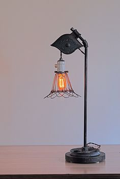 Pulley lamp- homage to the early lighting industry