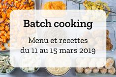 Batch Cooking Winter # 12 - Monat März - Woche 11 - Recettes à cuisiner - Week Lunch Prep, Meal Prep For The Week, Batch Cooking, Cooking Recipes, Easy Healthy Meal Prep, Healthy Meals, Prepped Lunches, Slow Food, Healthy Salad Recipes