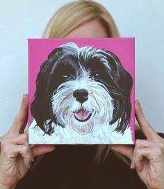 Havanese Custom Dog Portrait. $145.00, via Etsy.