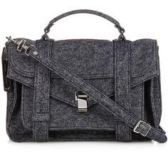 Proenza Schouler PS1 Medium felt bag (€1.500) ❤ liked on Polyvore featuring bags, handbags, satchel purse, felt purse, proenza schouler bag, satchel bags and satchel handbags