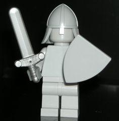 LEGO Castle STATUE Minifigure Plain Light Bluish Gray Minifig with Sword/Shield #LEGO Lego For Sale, Lego Custom Minifigures, Knight Sword, Prince Of Persia, Lego Castle, Lego Group, Lego Parts, Cool Lego, Lego Building