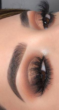 Golden Eye Makeup, Soft Eye Makeup, Eye Makeup Steps, Eye Makeup Art, Smokey Eye Makeup, Glam Makeup, Eyeshadow Makeup, Eyeshadows, Eyeshadow Styles