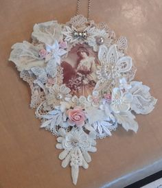 Vintage Doily Wall Hanging - Photo #1