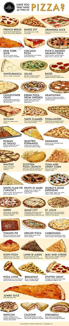 """darkazazael: """"foodffs: """" Have You Tried These 40 Types of Pizza? Really nice recipes. Every hour. Show me what you cooked! """" 40 types of pizza. Pizza Recipes, Cooking Recipes, Cooking Ideas, Chicken Recipes, Types Of Pizza, Pizza Style, Eat Pizza, Pizza Food, Pizza Hut"""