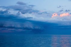Lake Michigan Summer Squall and Sailboat by Matthew John George on Capture Wisconsin // Another view of the astonishing weather we had this past Summer.