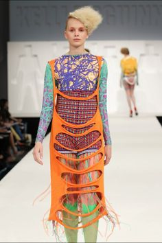 My collection at GFW #fashion #knitwear #print #design #fur #brightcolours…