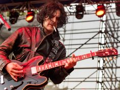 (Rick Egan  |  The Salt Lake Tribune)  Peter Hayes plays guitar for the Black Rebel Motorcycle Club at theTwilight Concert Series at Pioneer Park, Thursday, July 23, 2015.
