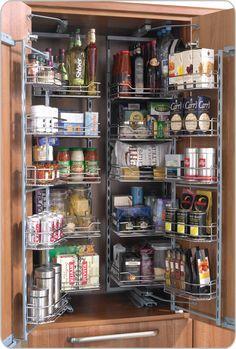 Herrajes Sorano para cocinas y closet, Despensas, Torre Alacena 110°, Districondor