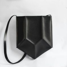 Geometric+Pentagon+Leather+Bag+Crossbody+Purse+by+CrowSLC+on+Etsy,+$300.00: