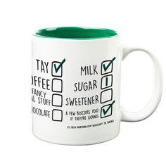 'How I Like Mine' Your Name & Instructions Custom Printed Gift Mug & Box by HairyBaby.com Custom Mugs, Gifts In A Mug, Like Me, Projects To Try, Names, Fancy, Printed, Box, Tableware