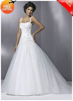 Free Shipping Ball Gown Sheer Straps & Strapless Court Train Sexy Wedding Dresses - Ball Gown Wedding Dresses - Wedding Dresses