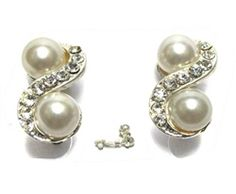 Silver Clip On Pearl Earrings.   Wonderful selection of clip on earrings.   Whether you feel like a night out on the town or just relaxing around the house with friends and family, our line of clip on earrings is simple the best.    http://www.thesterlingstar.com/Clip_On_Earrings_s/97.htm