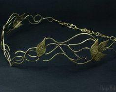 Elven tiara  Wire wrapped tiara   Elven diadem